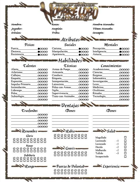 Hoja de personaje genérica H20.pdf - Adobe Acrobat Reader DC